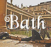 Bath II Typography Print by Simone Anderson