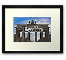 Berlin Wall Typography Print Framed Print