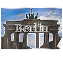 Berlin Wall Typography Print Poster