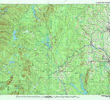Maine USGS Historical Map Presque Isle 808185 1994 100000 by wetdryvac