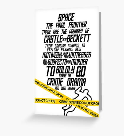 Castle The Final Frontier- v1b Greeting Card