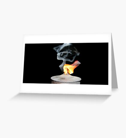 Insect Burner Flame Greeting Card