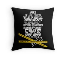 Castle The Final Frontier- v2b Throw Pillow