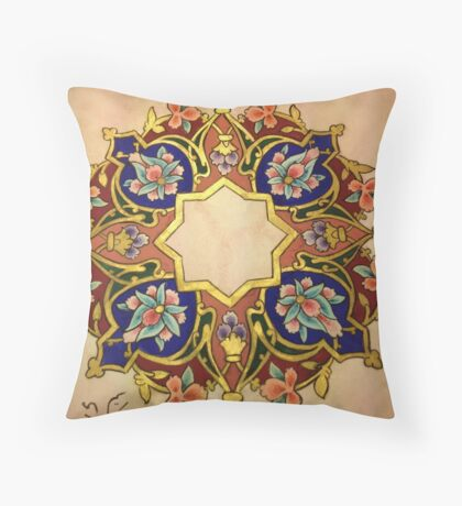 Multicolor Miniatures Throw Pillow