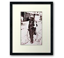 The Lassoer Framed Print