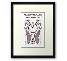 Running Out of Time Framed Print