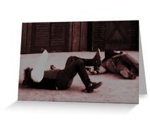 Down and Out Greeting Card