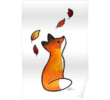 The Fox in the Leaves Poster