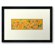 Textured Yellow Sunflowers Framed Print