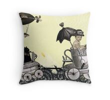 Emmet & Otis Go For A Ride Throw Pillow