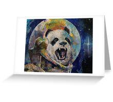 Space Panda Greeting Card