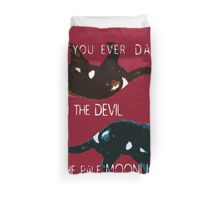Dancing With the Devil Duvet Cover