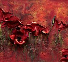 Red Poppies by Linda Bassett