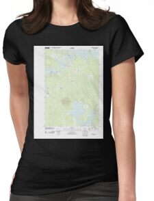 Maine USGS Historical Map Princeton 20110829 TM Womens Fitted T-Shirt