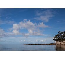 Blue sky water Photographic Print