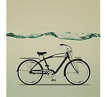 wet wheels Photographic Print