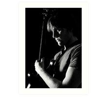 Steve and Guitar Art Print