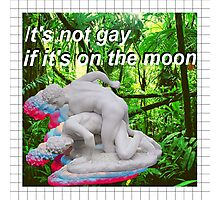 It's not gay if it's on the moon Photographic Print