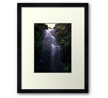 End of Ravine Waterfall Framed Print