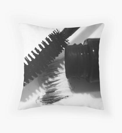 Make Up Series - Mascara Throw Pillow