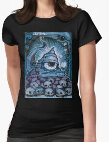 Cthonic Temple Smoke Womens Fitted T-Shirt