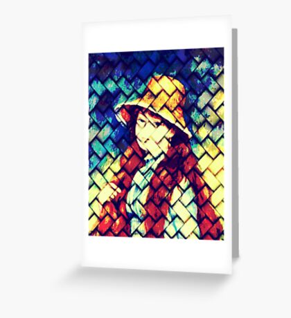 GIRL IN HAT AFTER RENOIR Greeting Card