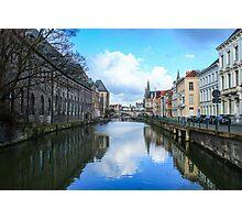 Canal in Gent, Belgium Photographic Print
