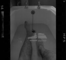 Portrait in the bath HP5 by Mark Curry