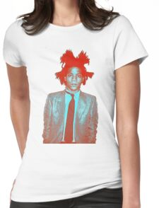 basquiat Womens Fitted T-Shirt