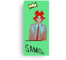 samo - green back Canvas Print