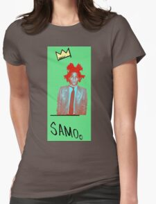 samo - green back Womens Fitted T-Shirt