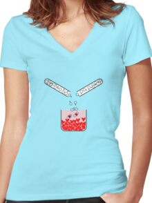 Lab love Women's Fitted V-Neck T-Shirt