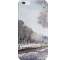 Cloudy winter morning near Lafontaine Park. Montreal iPhone Case/Skin