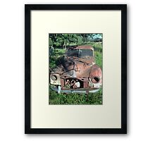 Ancient car Framed Print