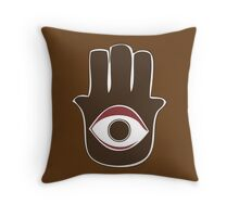 Hamsa for blessings, power and strength Throw Pillow