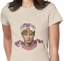 Arthur Pendragon Floral  Womens Fitted T-Shirt