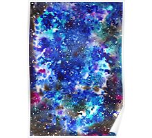 watercolor night sky Poster