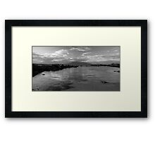 South Coast NSW stormy seascape B&W Framed Print