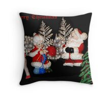 Mr and Mrs Claus Throw Pillow