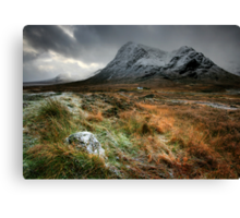 The house under the mountain Canvas Print