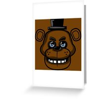 Multicolor Freddy Greeting Card