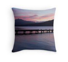 Lake Kaniere at dusk Throw Pillow
