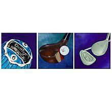 Blue Golf Evolution Photographic Print