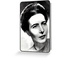 Simone de Beauvoir Black and White Graded Greeting Card