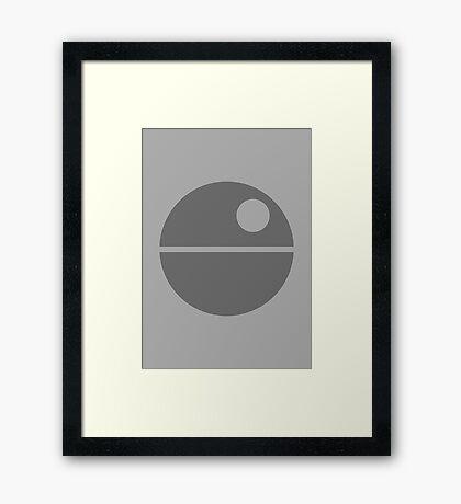 Star Wars - Death Star Framed Print