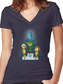 Link's Purest Blue Stuff Women's Fitted V-Neck T-Shirt