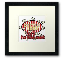 Kettle Corn! It's a fun time snack! Framed Print