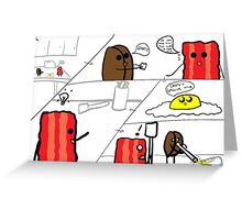 Bean and bacon comic strip 2 Greeting Card