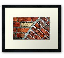 Tectonic Bricks - Saint Nicholas Church, Carrickfergus. Framed Print