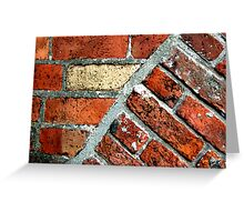 Tectonic Bricks - Saint Nicholas Church, Carrickfergus. Greeting Card